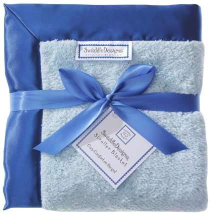 Плед SwaddleDesigns пастельно-голубой с синим