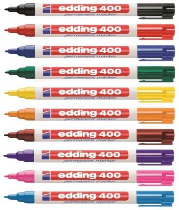 Набор перманентных маркеров Edding круглый наконечник, 1 мм, 10 цветов в наборе