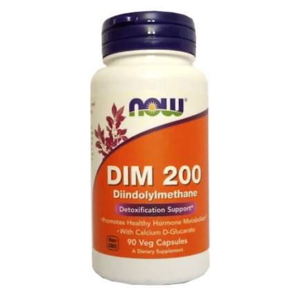 NOW DIM 200 (90 капсул) - дииндолилметан, препарат для детоксикации печени