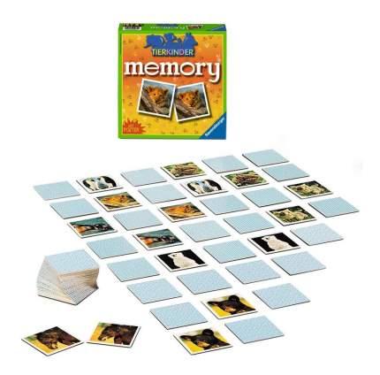 Настольная игра Мемори детеныши животных 72 карточки