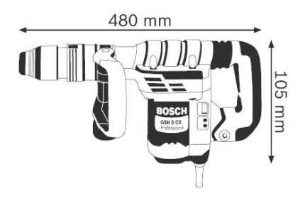 Сетевой отбойный молоток Bosch GSH 5 СE 611321000