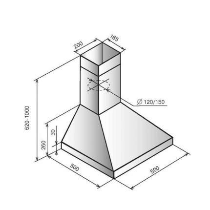 Вытяжка купольная ELIKOR Вента 50П-430-П3Л White