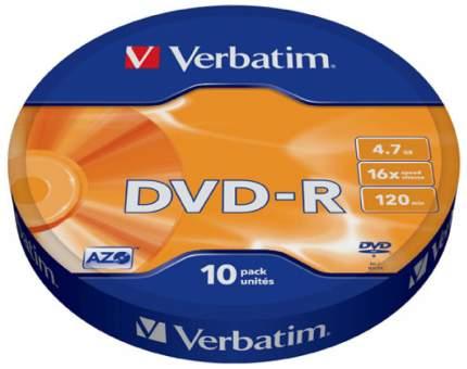 DVD-R диск Verbatim 16xShr 43729, 10шт