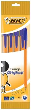 Набор ручек шариковых BIC Orange Оранжевый, 4 шт. Синяя
