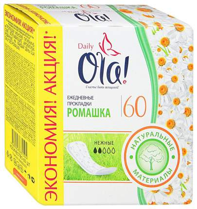 Прокладки Ola! Daily Ромашка ежедневные 60 шт