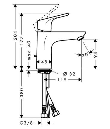 Смеситель для раковины Hansgrohe Focus 31517000 хром