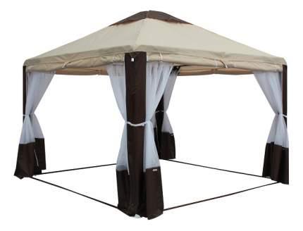 Тент Митек Пикник-Элит бежево-коричневый 3 x 3 м
