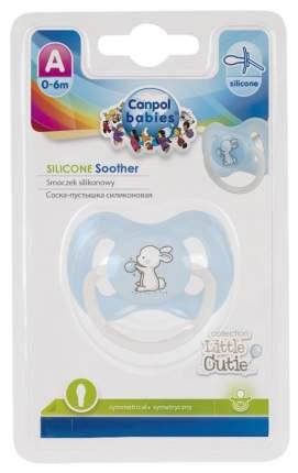 Пустышка силиконовая анатомическая Canpol Babies Little Сuties 0-6 мес 23/265, Голубая