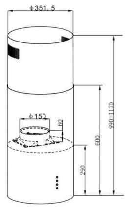 Вытяжка островная MAUNFELD Lee Light (Isla) 35 Silver