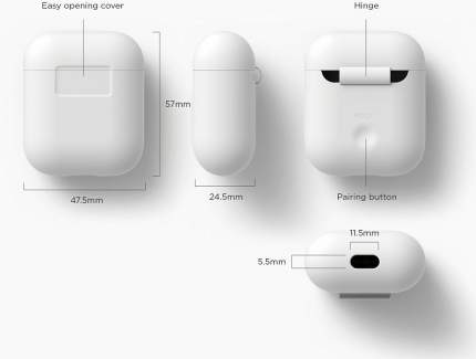 Чехол Elago Silicone Case (EAPSC-WH) для AirPods (White)