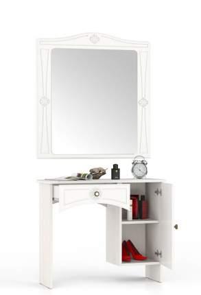 Туалетный столик с зеркалом Мебельный Двор Онега ТС-1+ЗН-1 белый 90х31х185