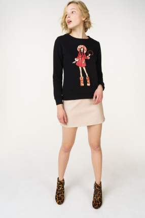 Свитшот женский Fashion.Love.Story. 17FL0003 черный 46 RU