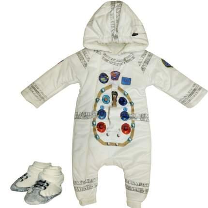 Комбинезон утепленный Папитто с капюшоном Космонавт экрю 11-521 р.20-56