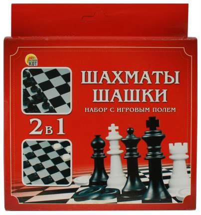 Игра настольная Рыжий кот Шахматы и шашки 2в1