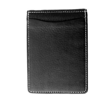Черный зажим для денег из кожи WLJ-08 Bufalo