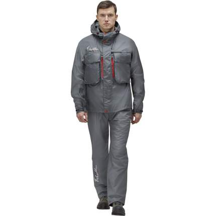 Куртка для рыбалки Nova Tour Fisherman Риф V2, темно-серая, XS INT, 170 см