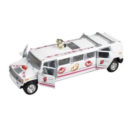Машина Технопарк инерционная, металлическая свадебный лимузин, со светом и звуком