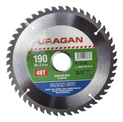 Пильный диск по дереву  Uragan 36802-190-30-48