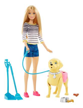 Куклы Barbie Mattel Прогулка с питомцем DWJ68