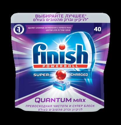 Таблетки для посудомоечной машины Finish quantum powerball max 40 штук