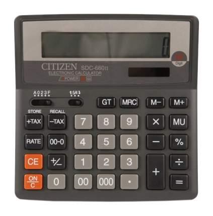 Калькулятор CiTiZEN SDC-660II Серый