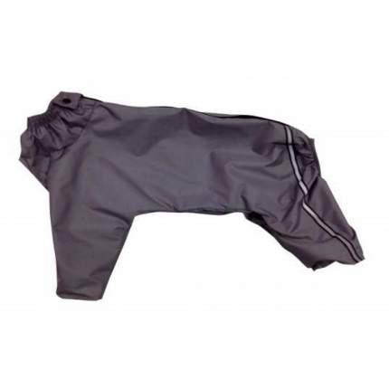 Комбинезон для собак ДОГ МАСТЕР джек-рассел размер XL мужской, серый спина 32