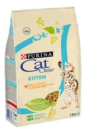 Сухой корм для котят Cat Chow Kitten, домашняя птица, 1,5кг