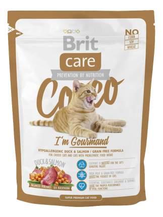 Сухой корм для кошек Brit Care Cocco Gourmand, для гурманов, утка, лосось, 2кг