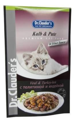Влажный корм для кошек Dr.Clauder's, телятина, индейка, 20шт, 100г
