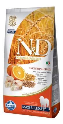 Сухой корм для собак Farmina N&D Maxi, для крупных пород, треска и апельсин, 12кг