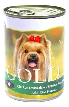 Консервы для собак NERO GOLD Adult Dog Formula, куриные бедрышки, 12шт, 1250г