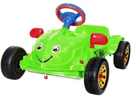 Педальная машина RT Herbi с музыкальным рулем зеленый
