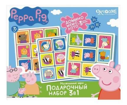 Настольная мини-игра Origami Peppa Pig подарочный набор 3 в 1