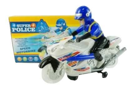 Мотоцикл Super Police с фигуркой Полицейского на батарейках со светом и звуком