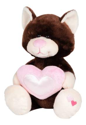 Мягкая игрушка Maxitoys Котик Влюбленный, коричневый, 22 см