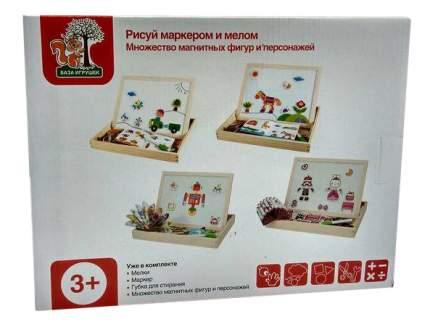 Доска для рисования мелом База игрушек двухсторонняя магнитная