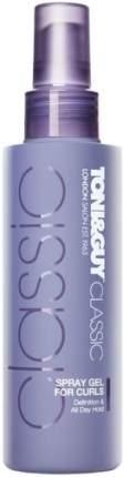 Спрей-гель TONI&GUY Надежная фиксация вьющихся волос, 150мл.