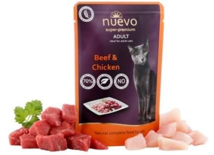 Влажный корм для кошек nuevo, говядина, 85г
