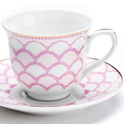 Кофейный сервиз Loraine Розовый 12 предметов