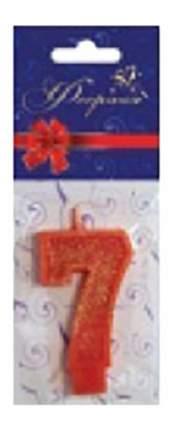Свеча для торта цветная Цифра 7