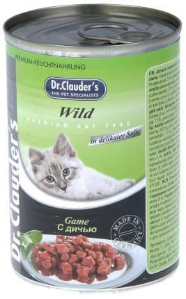 Консервы для кошек Dr.Clauder's, дичь, 415г