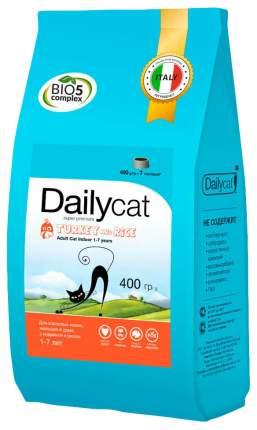 Сухой корм для кошек Dailycat Indoor, для домашних, индейка, 0,4кг