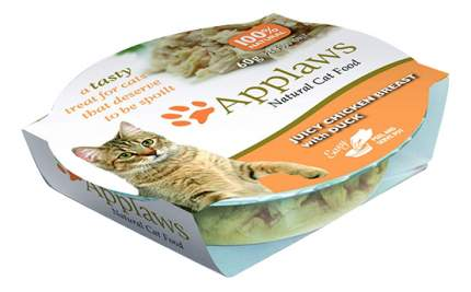 Консервы для кошек Applaws, утка, куриная грудка, 60г