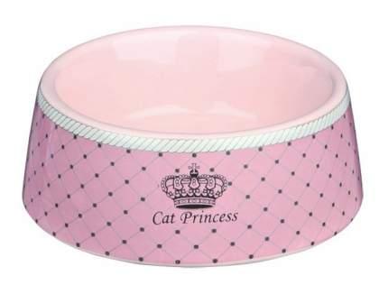 Одинарная миска для кошек TRIXIE, керамика, розовый, 0.18 л