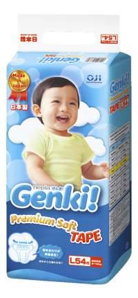 Подгузники Genki Nepia L (9-14 кг), 54 шт.