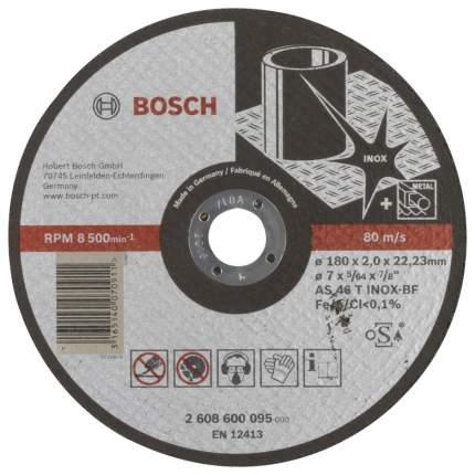 Диск отрезной абразивный Bosch INOX 180X2 мм 2608600095