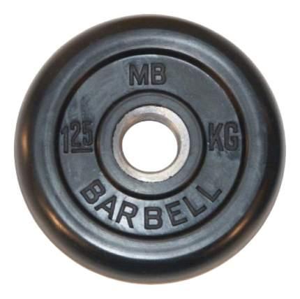 Блин обрезиненный MB Barbell Atlet 1,25 кг сталь MB-PltB26-1,25 26 мм черный