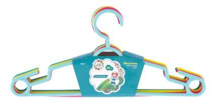 Вешалка пластиковая для легкой одежды 38 см, цветная, 5 шт в комплекте// ELFE