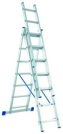 Лестница, 3 х 9 ступеней, алюминиевая, трехсекционная // СИБРТЕХ // Pоссия 97819