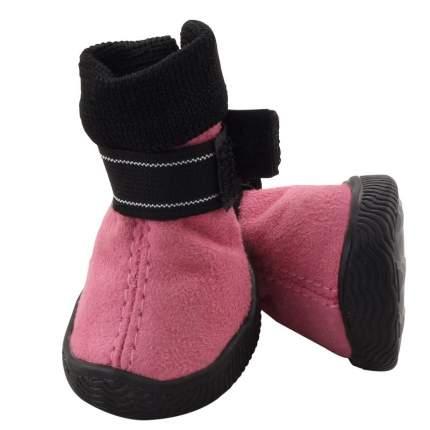 Обувь для собак Triol размер L, 4 шт розовый